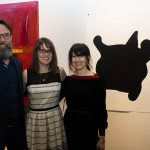 Danny Hussey & Bridget Thompson of Central Art Garage with Maura Doyle and her work