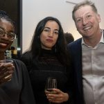 Artist Kosi Nnebe, artist Emilie Monnet and curator Jonathan Shaughnessy