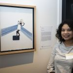 Kristina Corre with her work