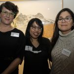 City of Ottawa's Sarah Paterson, Melanie Yugo of Possible Worlds, and curator Danielle Printup